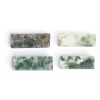Green Spot 4X11mm Rectangular Tube Semi-Precious